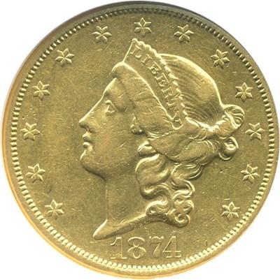 Image of 1874-CC $20  NGC XF40