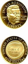 Image of 1997-W $5 Jackie Robinson NGC Proof 69 UCameo