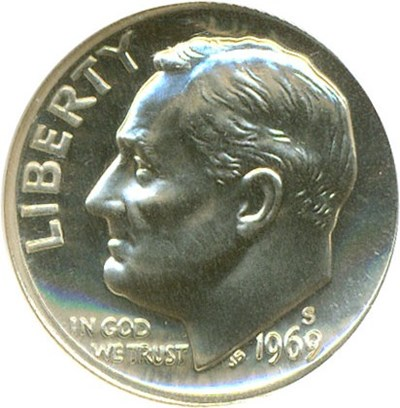 Image of 1969-S 10c  NGC Proof 67