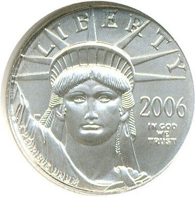 Image of 2006 $10 Platinum Eagle NGC MS70