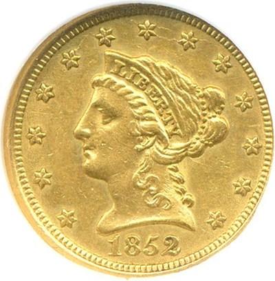 Image of 1852 $2 1/2  NGC AU55