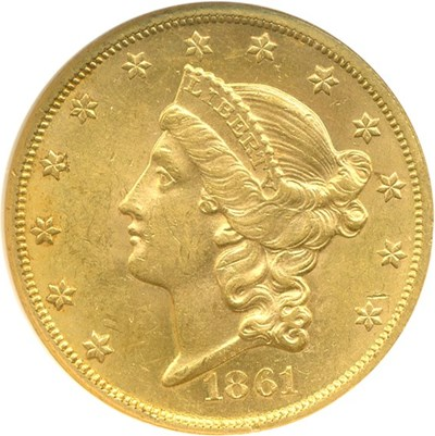 Image of 1861 $20  NGC MS61