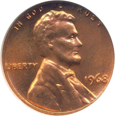 Image of 1968 1c  NGC MS66 RD