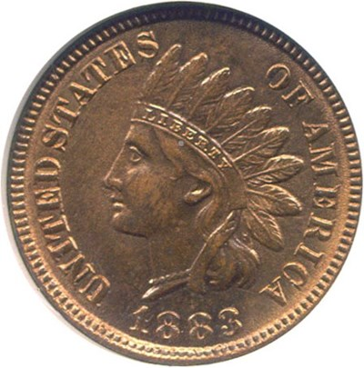 Image of 1883 1c  NGC MS64 RD