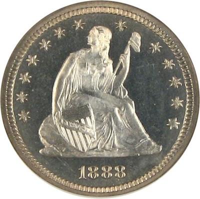 Image of 1888 25c  NGC Proof 66 Cameo