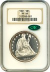 Image of 1861 $1  NGC/CAC Proof 64