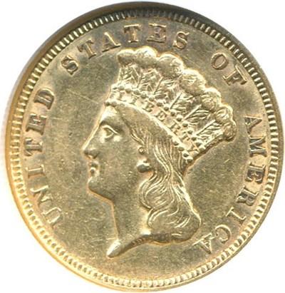Image of 1856 $3  NGC AU55