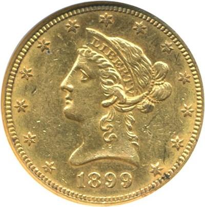 Image of 1899-O $10  NGC AU58