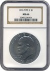 Image of 1976 $1 Ty.2 NGC MS66