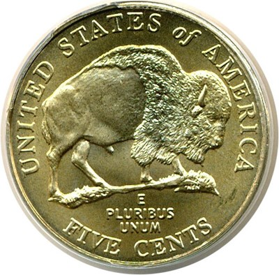 Image of 2005-P 5c Bison - Satin Finish (SMS) ANACS MS69