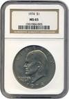 Image of 1974 $1  NGC MS65