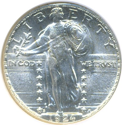 Image of 1924-S 25c  NGC/CAC MS64 FH