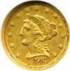 Image of 1847-O $2 1/2  NGC AU50