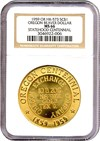 Image of 1959 OR SC$1 Oregon Beaver Dollar Medal (HK-573) NGC MS66