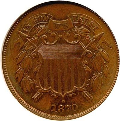 Image of 1870 2c  NGC MS64 BN