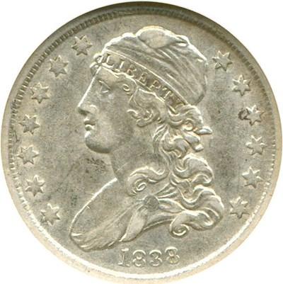 Image of 1838 25c Cap. Bust NGC AU50 (B-1)
