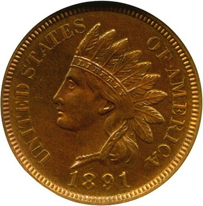 Image of 1891 1c  NGC Proof 63 BN
