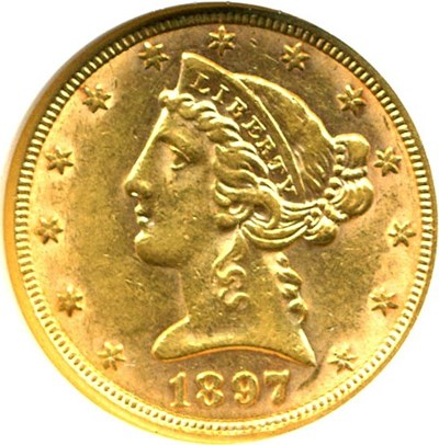 Image of 1897 $5  NGC AU58