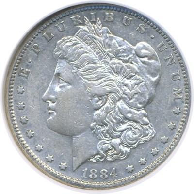 Image of 1884-S $1  NGC AU53