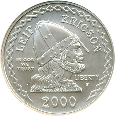 Image of 2000-P $1 Leif Ericson NGC MS70