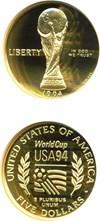 Image of 1994-W $5 World Cup NGC Proof 70 UCameo