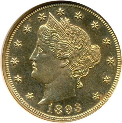 Image of 1893 5c  NGC Proof 63