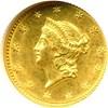 Image of 1849 G$1 No L NGC MS62