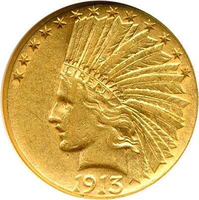 Image of 1913-S $10  NGC XF45