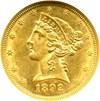 Image of 1892-CC $5  NGC AU58