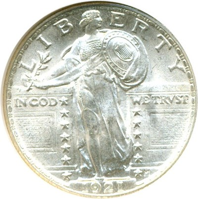 Image of 1921 25c  NGC/CAC MS66