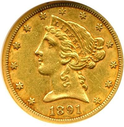 Image of 1891-CC $5  NGC AU53