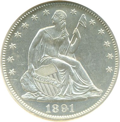 Image of 1891 50c  NGC Proof 65