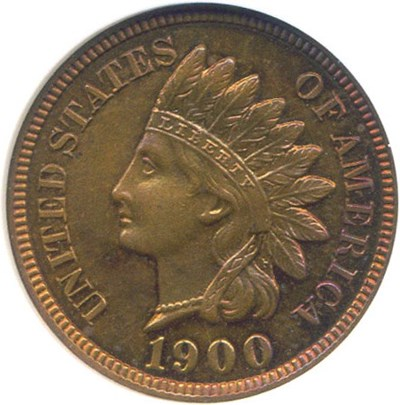 Image of 1900 1c  NGC Proof 65 RB