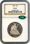 Image of 1889 50c  NGC/CAC Proof 63