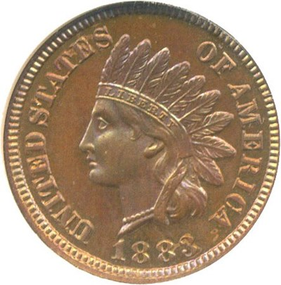 Image of 1883 1c  NGC Proof 64 BN *Color*