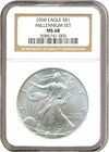 Image of 2000 $1 Silver Eagle NGC MS68 - Millennium Set