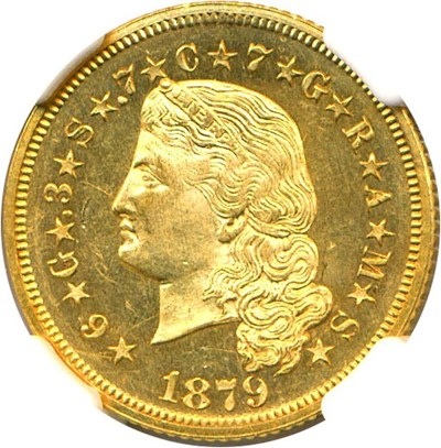 Image of 1879 $4 Flowing Hair NGC Proof 63 Cameo *Stella*