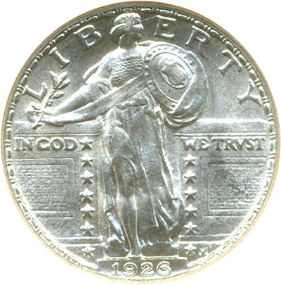 Image of 1926 25c  NGC/CAC MS65 FH