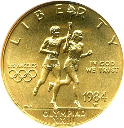 Image of 1984-W $10 Olympic NGC MS70