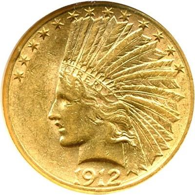 Image of 1912-S $10  NGC AU58