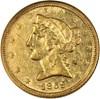 Image of 1859-C $5  NGC AU55