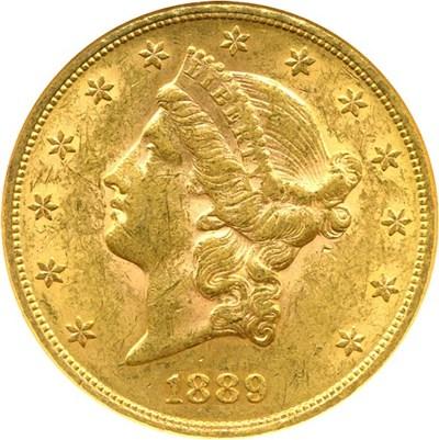 Image of 1889 $20  NGC AU58