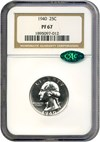 Image of 1940 25c  NGC/CAC Proof 67
