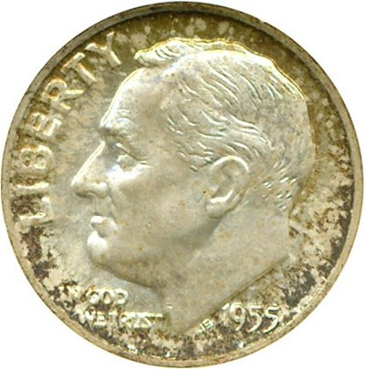Image of 1955-D 10c  NGC MS67
