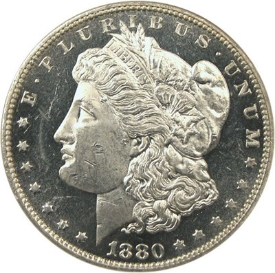 Image of 1880 $1  NGC Proof 61  Cameo