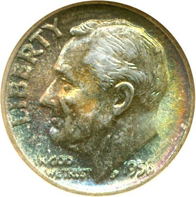 Image of 1956 10c  NGC MS66 *Color*