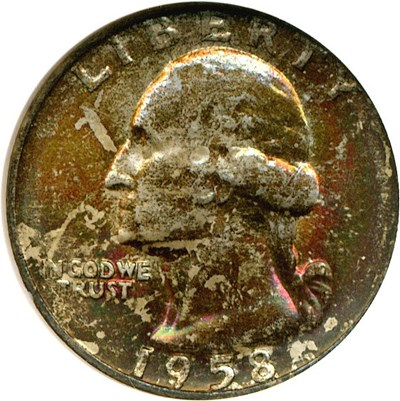 Image of 1958-D 25c  NGC MS67 *Color*