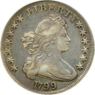 Image of 1799 $1  NGC VF35