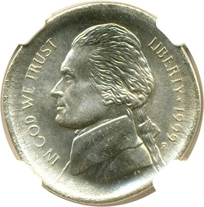 Image of Mint Error: 1999-P 5c  NGC MS65 6FS  - Broadstruck