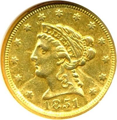 Image of 1851-C $2 1/2  NGC AU58